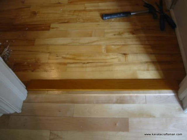 ... make the transition with a tongue that could have fitted into the  groove of the hallway hardwood flooring. In this particular case, the grove  had been ... - Kanata Craftsman